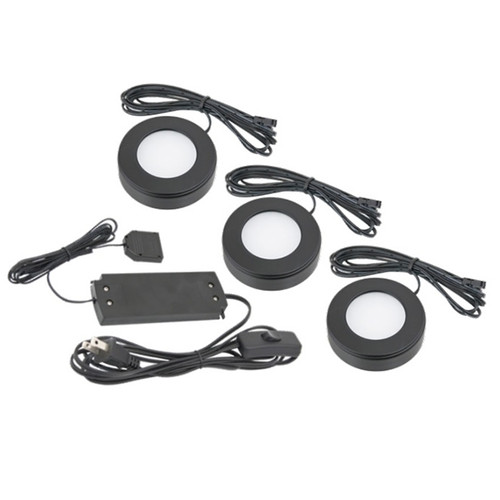 American Lighting OMNI LED Puck Light, 3 Pack Kit