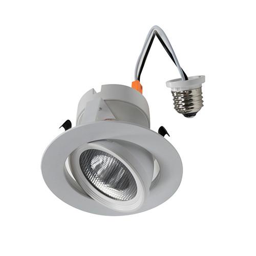 4 Inch LED Recessed Retrofit White Gimbal Ring