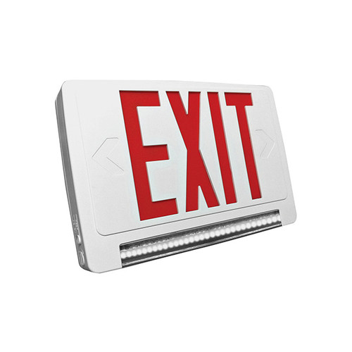 LED Exit & Emergency Lightpipe Thermoplastic Combo, Remote Capable