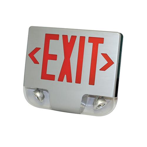 LED Exit & Emergency Die-Cast Aluminum Combo