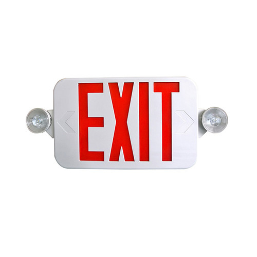 Low Profile All LED Exit & Emergency Combo