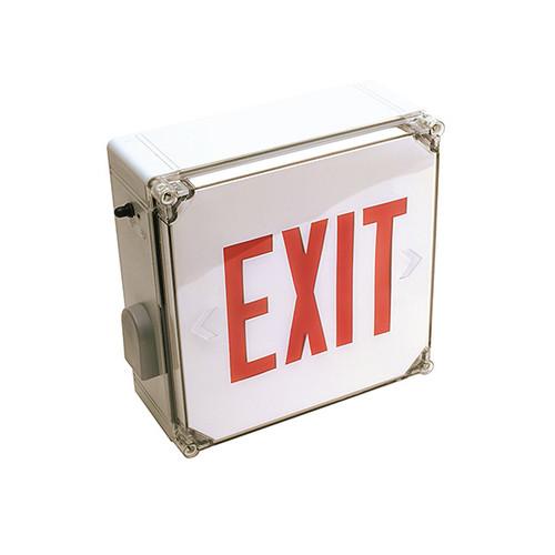 Wet Location Single Face Polycarbonate LED Exit Sign
