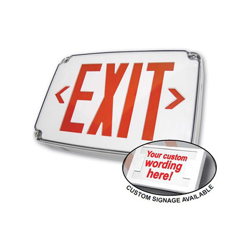 Compact Wet Location Polycarbonate Exit Sign