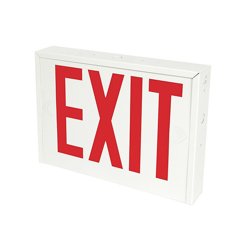 NYC Compliant RedWhite Steel Exit Sign