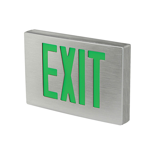 Die-Cast Aluminum LED Exit Sign, Single Faced