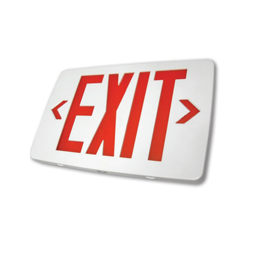 Ultra Thin Plastic LED Exit Sign, White Housing