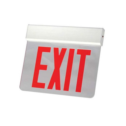 Surface Edge-Lit Exit Sign, AC Only, Single Face, RedClear