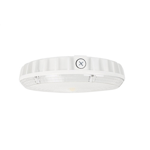 Mills Round LED Canopy Light, 30/45/60W, Dimmable, DLC Standard