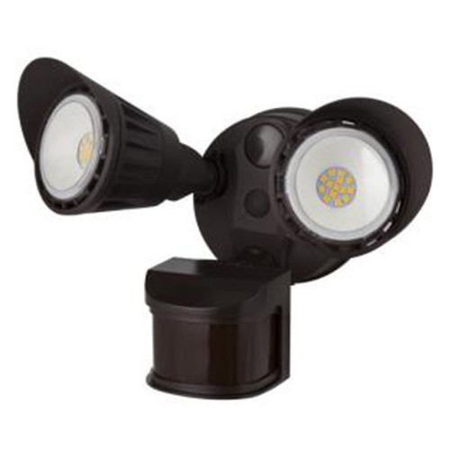 Sunlite 20-Watt LED Dual Head Outdoor Security Light with Motion Sensor and Photocell