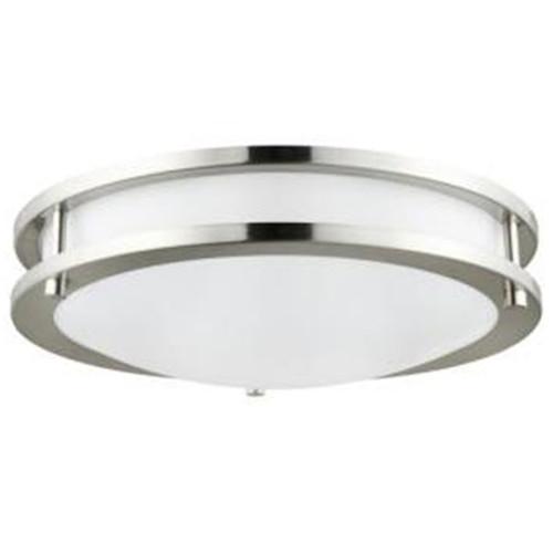 "Sunlite 15-Watt 12"" LED Decorative Brushed Nickel Ceiling Light Fixture"