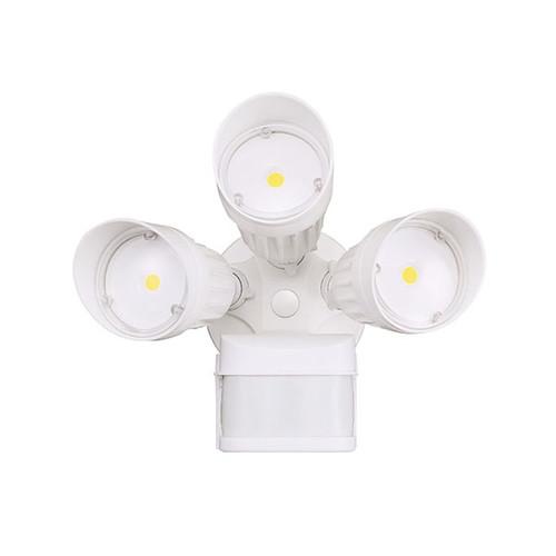 Cyber Tech 30W White Triple Head LED Motion Security Lighting