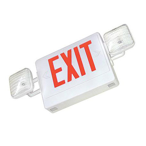 Double Face Green LED Exit and Emergency Light Combo
