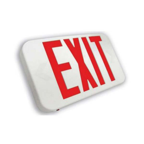 Rounded Double Face Compact LED Exit Sign