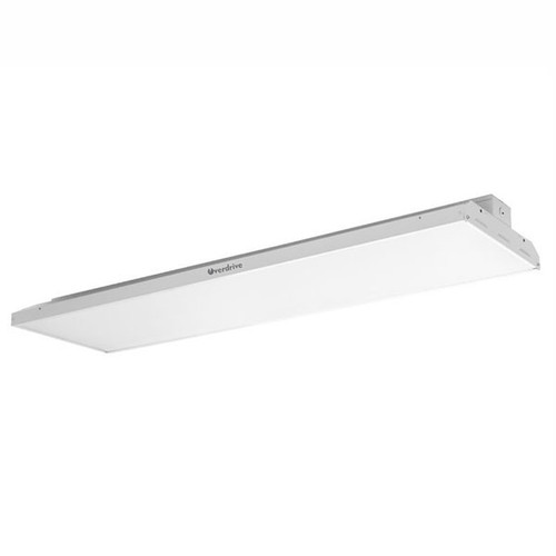 220 watts, 26000 lumens, LED Linear High Bay features white painted steel body available in 5000k color temperatures with 50,000 life hours