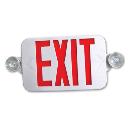 GlobaLux Lighting Low Profile, LED Combo ExitEmergency Sign