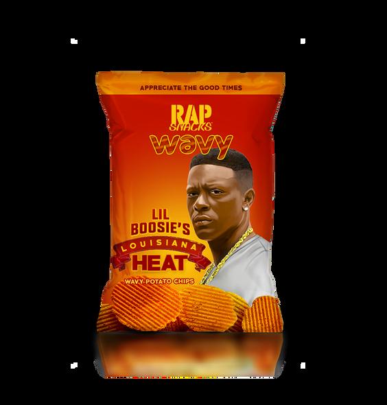 Rap Snacks Lil Boosie Louisiana Heat Wavy Potato Chips 24ct 2.75oz