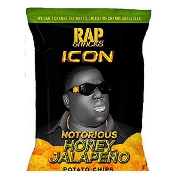 Rap Snacks Notorious B.I.G. ICON Honey Jalapeno Potato Chips 24ct 2.75oz