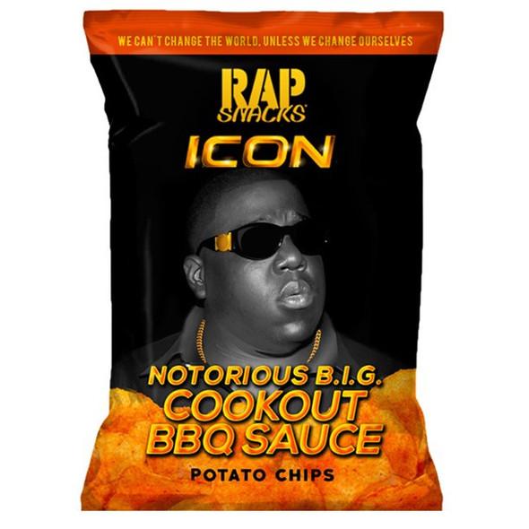 Rap Snacks Notorious B.I.G. ICON Cookout BBQ Sauce Potato Chips 24ct 2.75oz