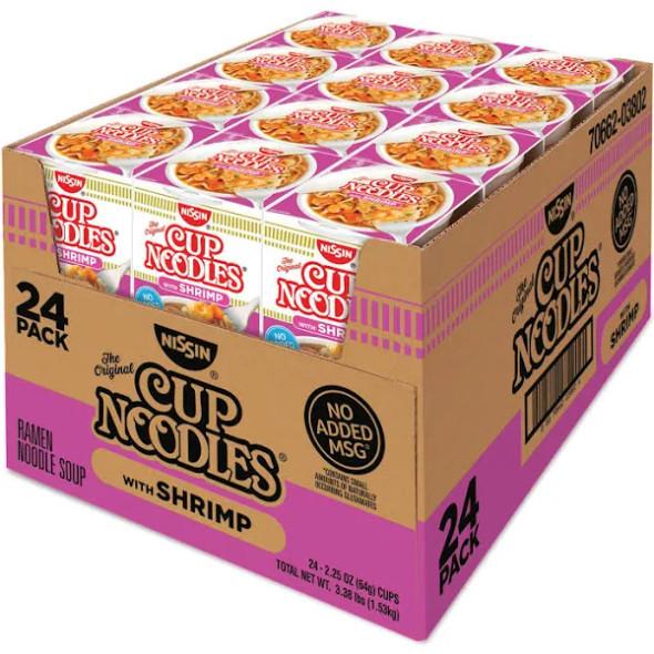 Nissin Cup Noodles Shrimp Soup 24ct 2.5oz