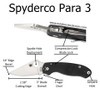 Spyderco Para 3 Infographic - Outdoor Stockroom