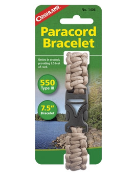 Coghlans - Paracord Bracelet - Tan - Outdoor Stockroom