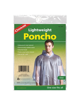 """Coghlan/'s Poncho for Kids Lightweight Reusable w// Attached Hood 30/""""x40/"""" 2-Pack"""