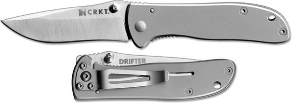 CRKT Drifter Stainless Steel 6450S Folding Knife - Outdoor Stockroom
