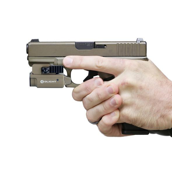 Olight PL Mini 2 Desert Tan Weapon Light - Outdoor Stockroom