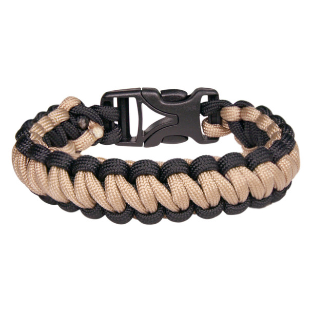 Coghlans - Paracord Bracelet - Tan Black - Outdoor Stockroom
