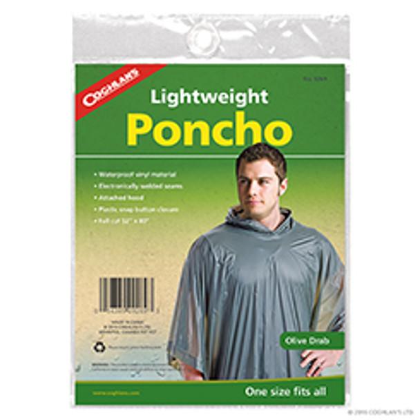 Coghlans - Vinyl Rain Poncho - Olive Drab - 9269 - Outdoor Stockroom