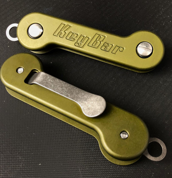 Green Anodized Aluminum KeyBar Key Organizer | Outdoor Stockroom