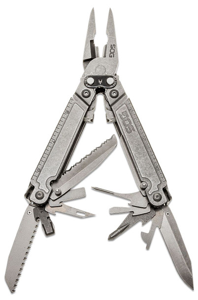 SOG PowerAccess Assist Multitool Stone Wash | Outdoor Stockroom