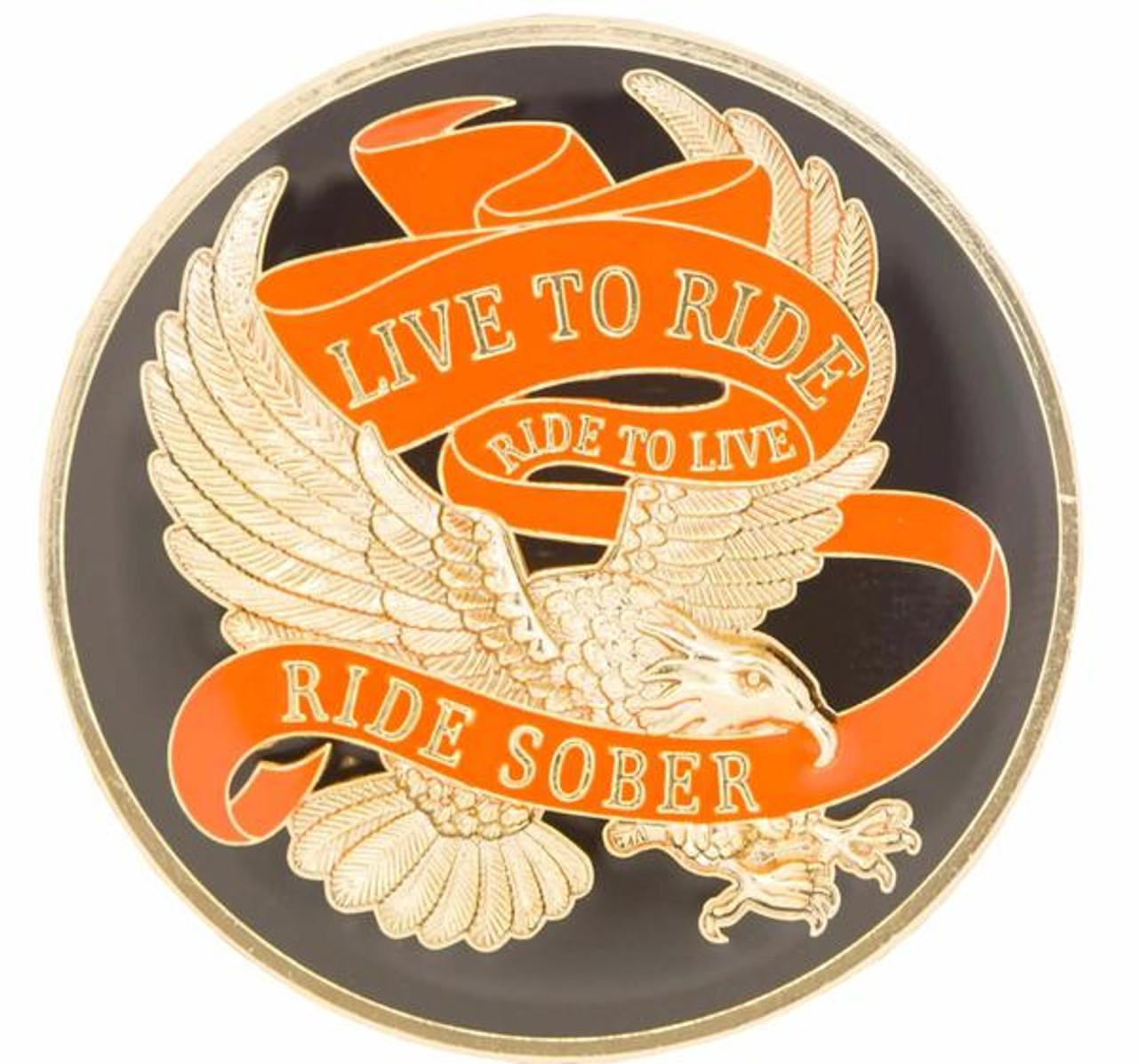 LIVE FREE RIDE SOBER SOBRIETY STICKER