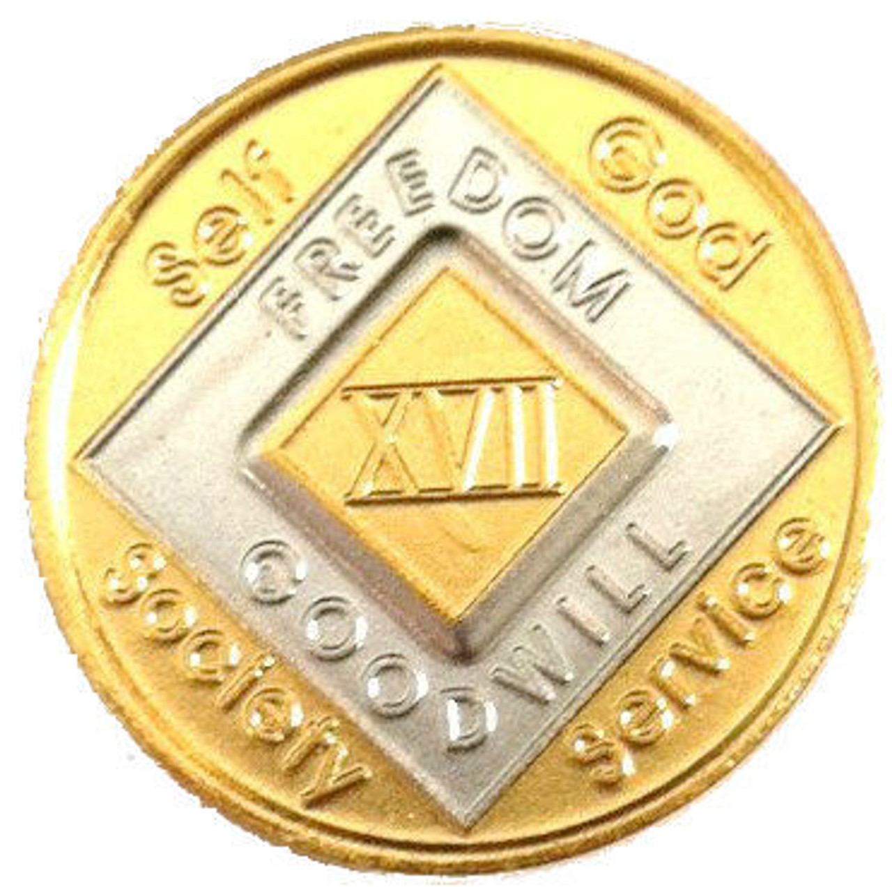 """Narcotics Anonymous Medallion Coin Coin /""""OUT OF THE ASHES/"""""""