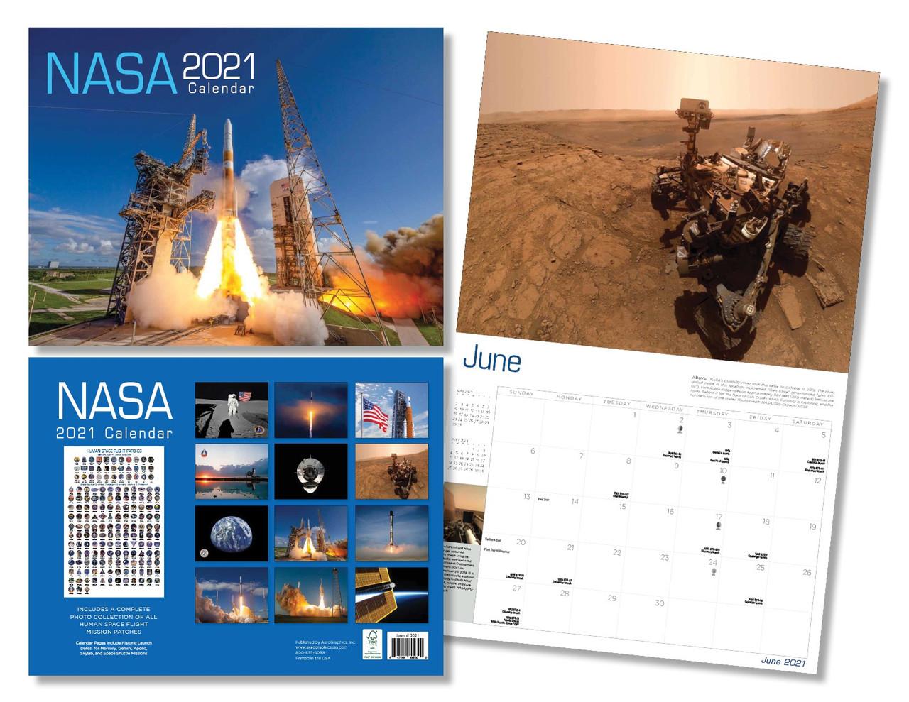 NASA 2021 Calendar   NASA Gear