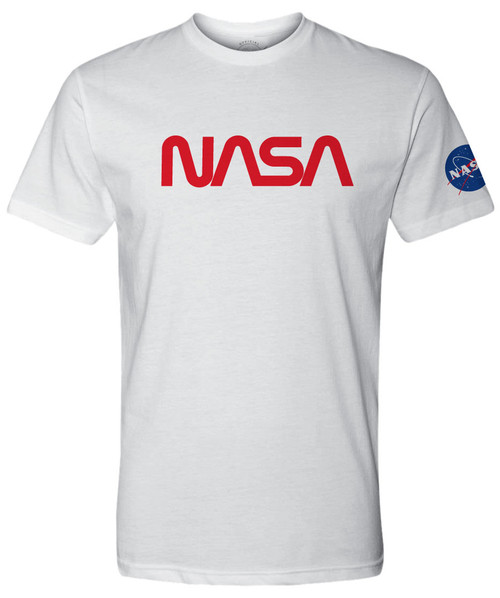 NASA Worm Logo - Red - Adult T-Shirt