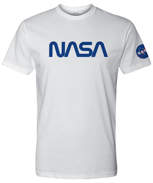 NASA Worm Logo - Blue - Adult T-Shirt