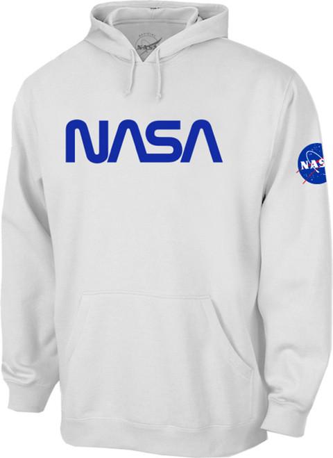 NASA Worm Logo - Blue - Adult Hoodie