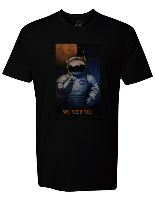NASA Meatball Logo - We Need You Astronaut Adult T-Shirt