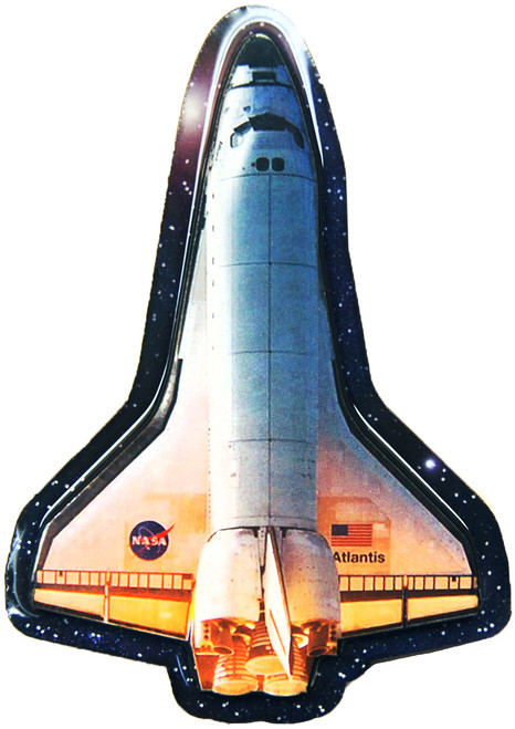 Space Shuttle Wooden Magnet
