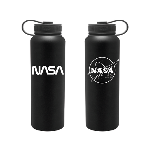 NASA Dual Logo - 40oz H2Go Bottle - Black