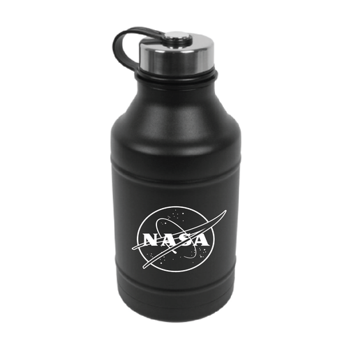 NASA Meatball Logo - 64 oz Insulated Growler - Black
