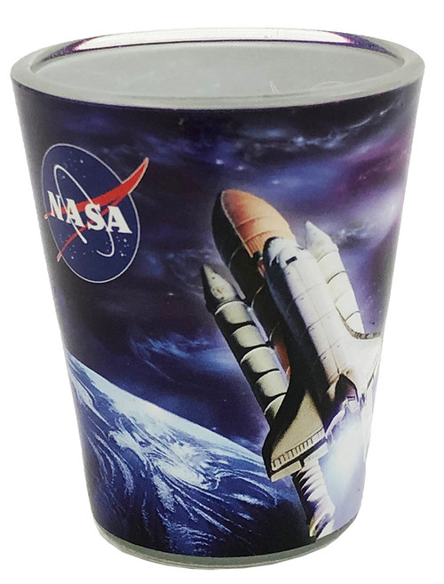 Space Shuttle 1.5 oz Plastic Shot Glass