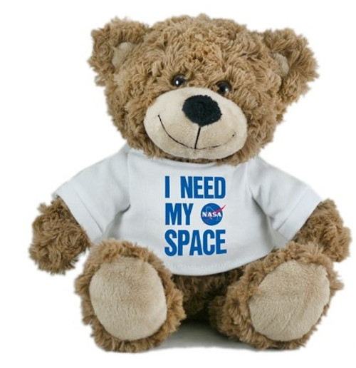 NASA Meatball Logo - I Need My Space Bear- Brown