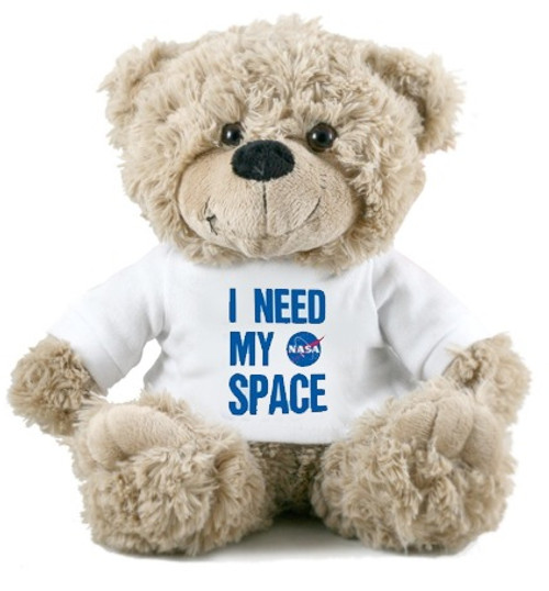 NASA Meatball Logo - I Need My Space Bear - Oatmeal