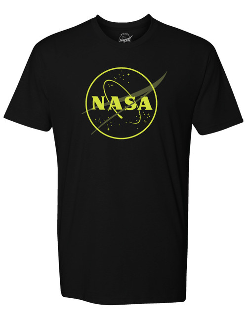 NASA Meatball Logo - Glow in the Dark Outline - Adult T-Shirt