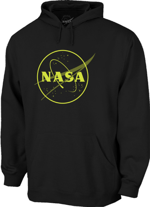 NASA Meatball Logo - Glow in the Dark Outline - Adult Hoodie