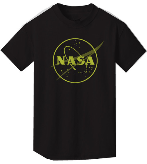NASA Meatball Logo - Glow in the Dark Outline - Youth T-Shirt