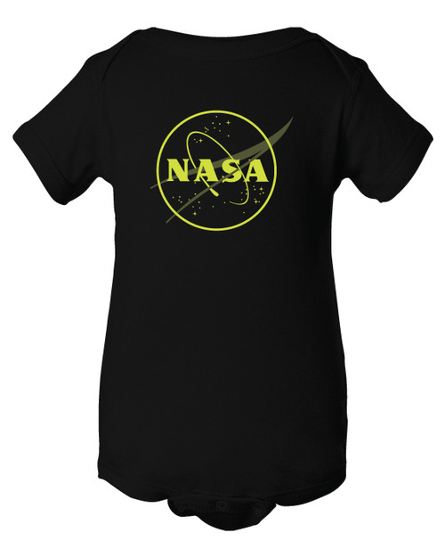 NASA Meatball Logo - Glow in the Dark Outline - Infant Onesie