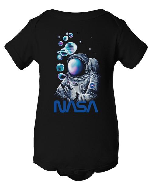 NASA Worm Logo - Bubble Astronaut Infant Onesie